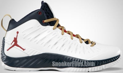 pretty nice 20b25 10ff6 Jordan Super Fly Olympic White Red Metallic Gold 2012 Release Date
