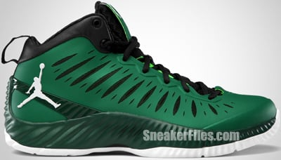 Jordan Super Fly Pine Green White Gorge Black 2012 Release Date