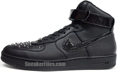Nike Air Force 1 Downtown High Spike Black July Release Date 2013