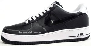 Nike Air Force 1 Black Black White Release Date April 2012