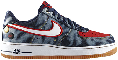 Nike Air Force 1 Denim Low Midnight Navy Release Date 2014