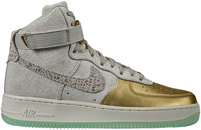 Nike Air Force 1 Hi Metallic Gold Green Release Date 2014