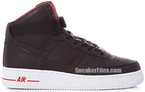 Nike Air Force 1 High Premium Black Release Date 2012