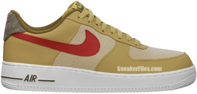 Nike Air Force 1 Low Jersey Gold Sport Red White Release Date