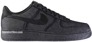 Nike Air Force 1 Low Premium Black Black Release Date