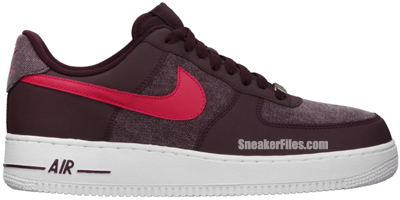 Nike Air Force 1 Low Red Mahogany Scarlet Fire White Release Date