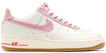 Nike Air Force 1 Low Seersucker Sail/University Red-Light Brown Gum Release Date
