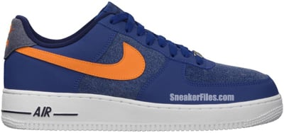 Nike Air Force 1 Low Storm Blue White Vivid Orange Release Date