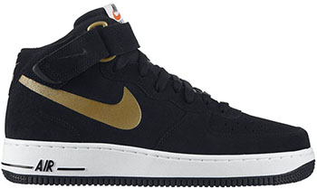 Nike Air Force 1 Mid Black Gold Release Date