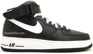Nike Air Force 1 Mid Black White Black Release Date