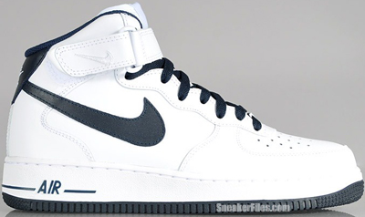 Nike Air Force 1 Mid White Dark Obsidian Release Date