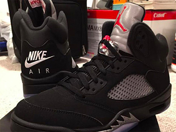 Nike Air Jordan 5 Black Metallic Release