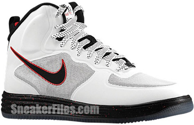 Nike Lunar Force 1 Fuse White Black Red Release Date 2013