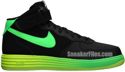 Nike Lunar Force 1 Leather Black Green May 2013 Release Date