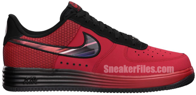 Nike Lunar Force 1 Leather University Red Black May 2013 Release Date