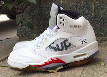 Supreme x Air Jordan 5 White Release Date