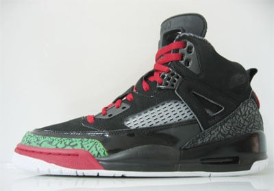 Air Jordan Spiz'ike Black/Red/Green 2007