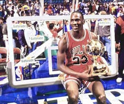 Michael Jordan 1986-1987 Season Slam Dunk Champ