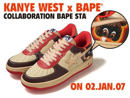A Bathing Ape x Kanye West Bape Sta