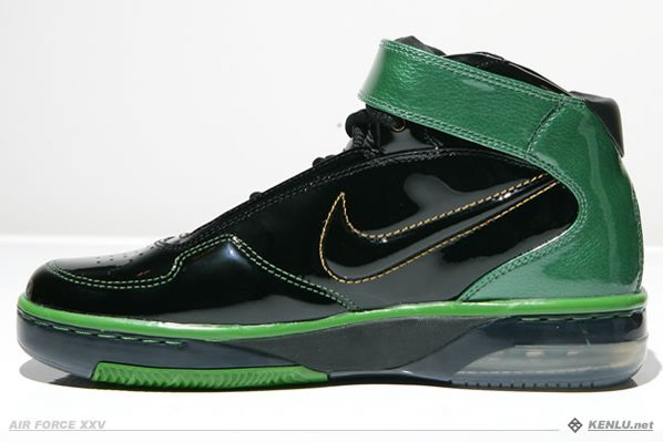 Nike Air Force 25 Black/Green Pictures