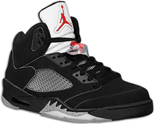 Air Jordan Retro V Black/Silver and Wmn Low