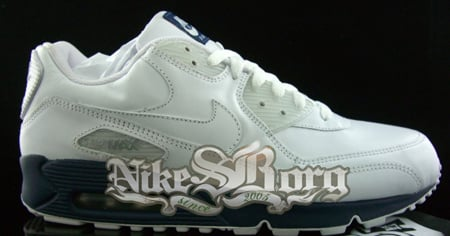 Nike Air Max 90 White/White-Midnight Navy