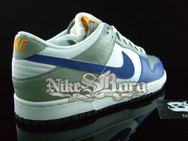 New Nike Dunk Low Blue/Grey-White Sample