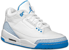 Air Jordan Retro III Fire Red and Carolina Blue