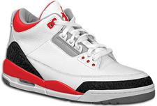 Air Jordan Retro III Fire Red and Carolina Blue