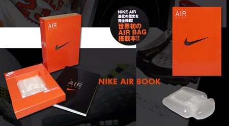 Nike Air Bag and Book