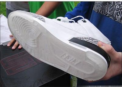 Air Jordan Retro III Icey Soles