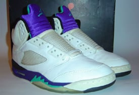 84f645b01f47 Original Air Jordan 5 V Grapes