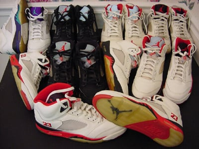 nike air jordan 5 history facts