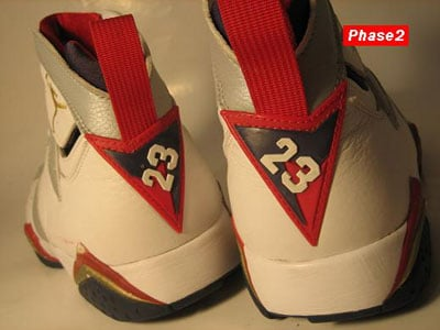 Air Jordan VII Olympic Look See Sample