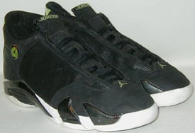 jordan 14 black and green