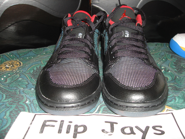 New Air Jordan Retro I Low Black/Red Sample