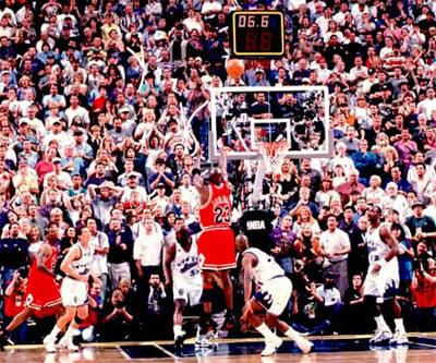 Michael Jordan 1997-1998 Season Last Shot