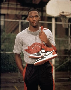 MJ With Air Jordan I