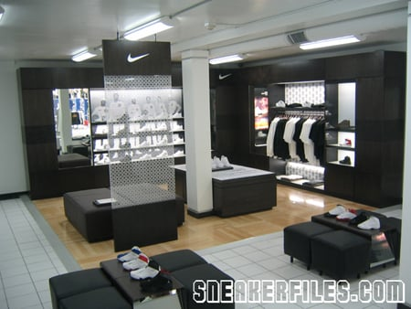Shiekh Shoes SF Exclusive Nike Display Section