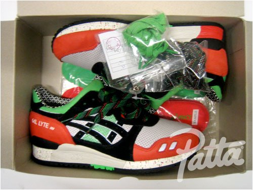 Asics Gel Lyte III x Patta Sample