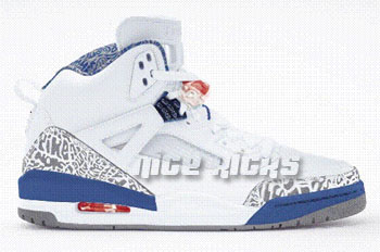 New Air Jordan Spizike White / Varsity Red-True Blue