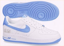 blue white air force ones