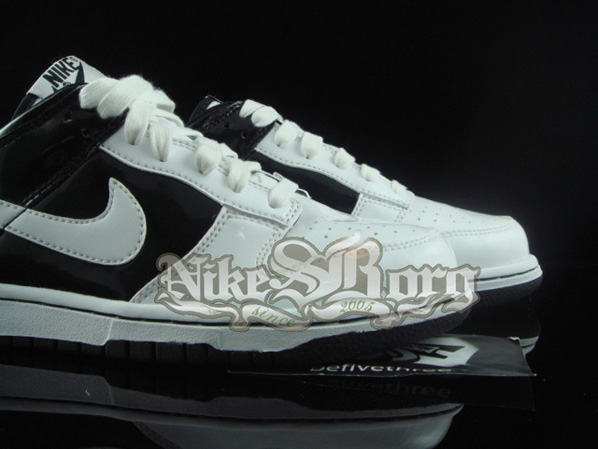 Nike Dunk Low PL Black/White Pearl Effect