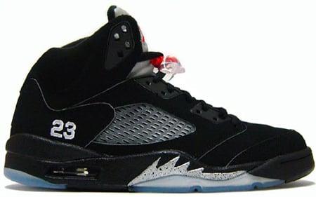 Nike Air Jordan 5 Black Metallic Silver Purchaze