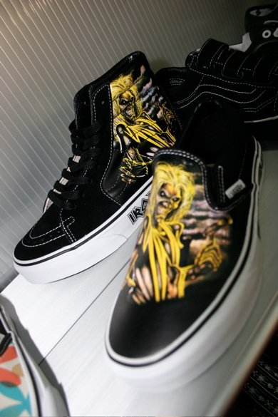 zapatos vans iron maiden