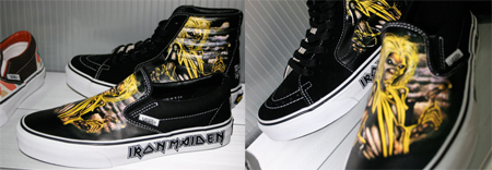the best attitude 130f3 8d936 Vans Iron Maiden Slip On & Sk8 Hi | SneakerFiles