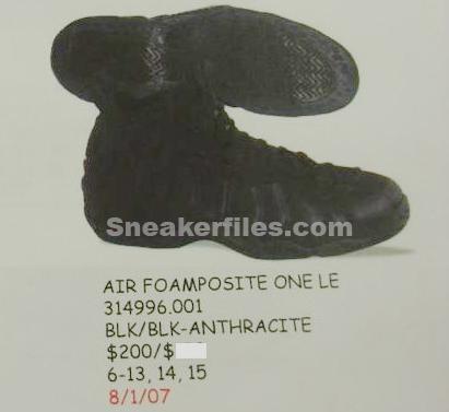 Nike Retro Foamposite One Black Summer Release