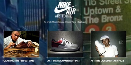 Nike Air Force One 25th Official Website
