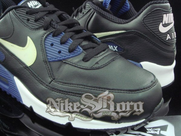 Nike Air Max 90 Black/Blue-Yellow Sample