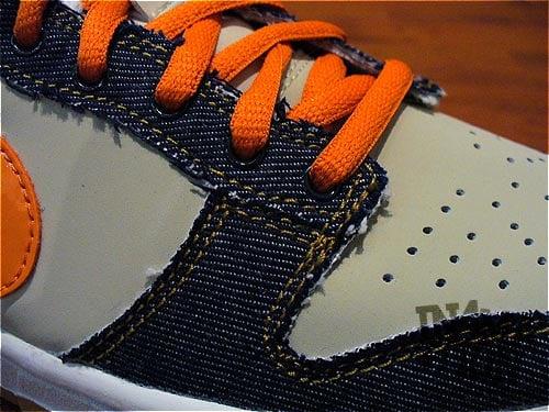 New Nike Dunk Low Tan and Denim